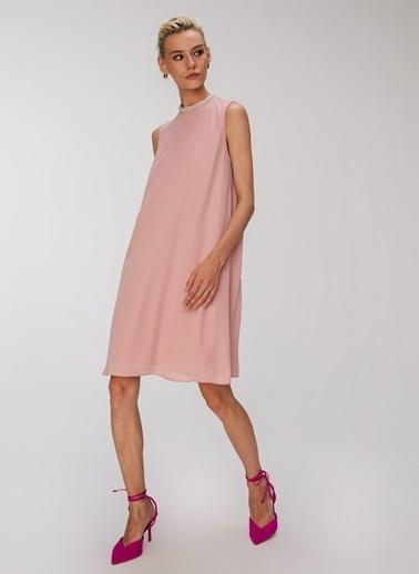 People By Fabrika Yakası Detaylı Kolsuz Elbise Pembe